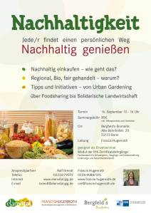 Infoblatt Seminar Nachhaltigkeit Elan Vital Bonn